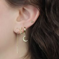 Pair of gold plated silver Bali Hoop earrings with a delicate decorative design. - Ozz Silver Jewelry