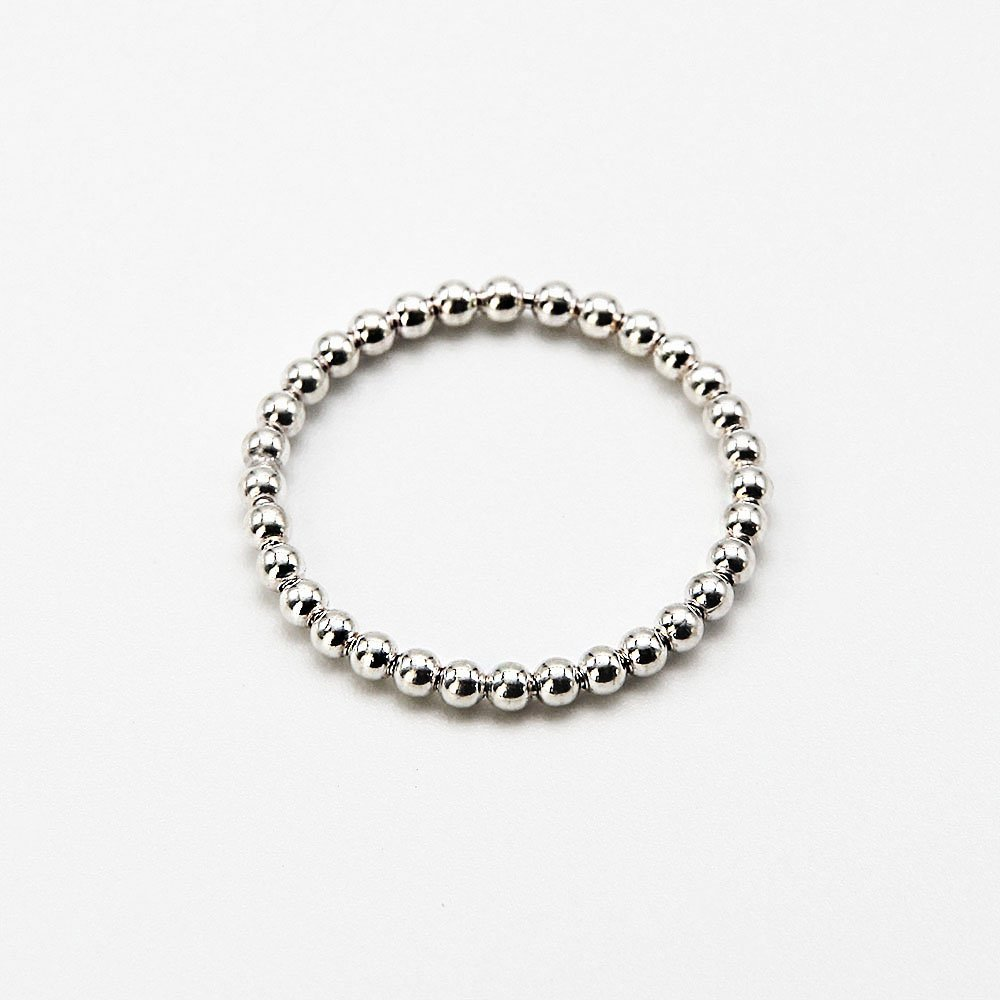 """A silver ring with a Ball Chain pattern. <a href=""""https://www.ozz-jewelry.com/size-guides/"""" target=""""_blank"""" rel=""""noopener noreferrer"""">See size guide</a>. - Ozz Silver Jewelry"""