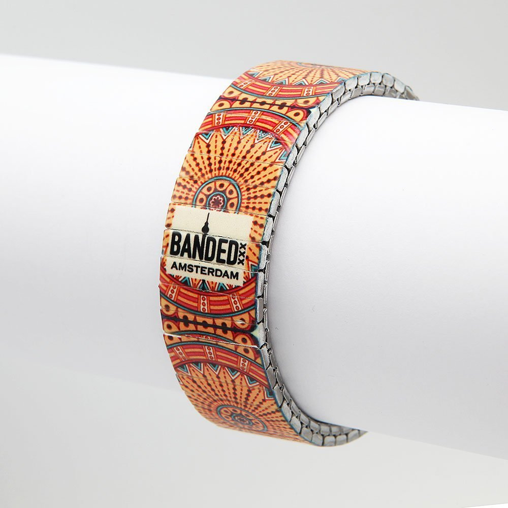 Unisex Banded bracelet from the Tile Collection. Made from stainless steel wristwatch bands, the bracelets are waterproof, UV-resistant and scratch resistant. - Ozz Silver Jewelry