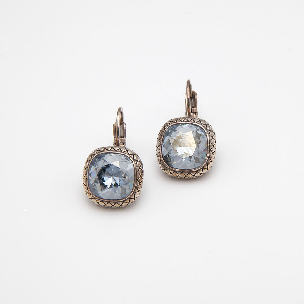 A pair of silver plated earrings by Camps & Camps. Contains Swarovski elements. - Ozz Silver Jewelry
