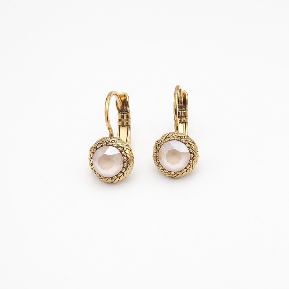 A pair of gold plated earrings by Camps & Camps. Contains Swarovski elements. - Ozz Silver Jewelry