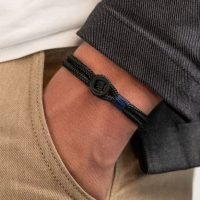 Men's bracelet by Pig & Hen with a button clasp. Handmade in Amsterdam. - Ozz Silver Jewelry