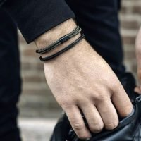 Men's bracelet by Pig & Hen with a choker clasp. Handmade in Amsterdam. - Ozz Silver Jewelry