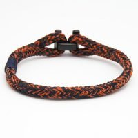 Men's bracelet by Pig & Hen with I-Shackle clasp. Handmade in Amsterdam. - Ozz Silver Jewelry