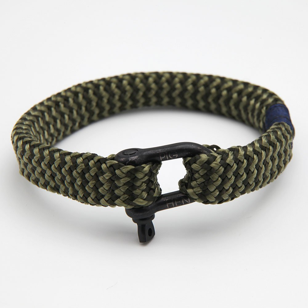 Men's bracelet by Pig & Hen with a D-Shackle clasp. Handmade in Amsterdam. - Ozz Silver Jewelry